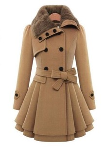 Ladies Chesterfield Coat Pea Coat Trench Coat Coat Long Coat