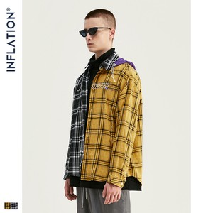 Men's Checkered Long Sleeve Shirt Unisex Retro Food Outerwear