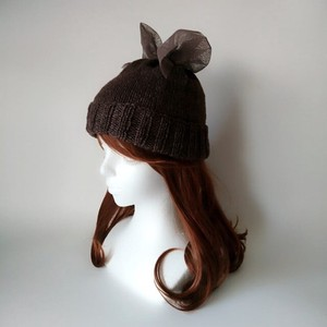 Ribbon Knitted Hat