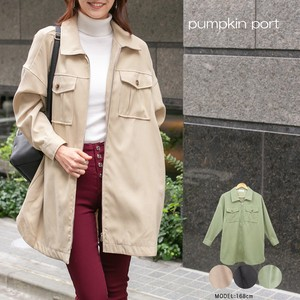 [ 2020NewItem ] Polyester Peach Long Jacket