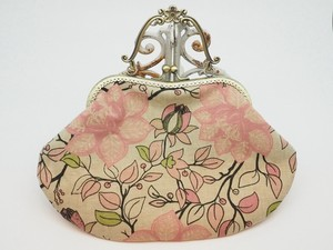 Feeling Coin Purse Bag Base Soft Floral Pattern Pink