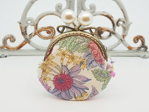 Last Feeling Coin Purse Pouch Coin Case Base Floral Pattern Purple