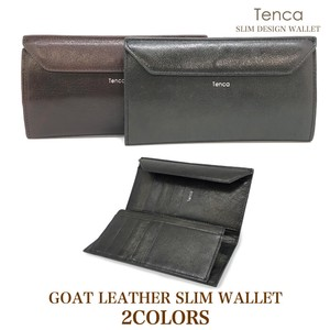 Goat Leather Goat Long Wallet