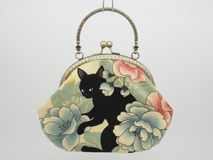 Feeling Coin Purse Bag Base cat Peony Ivory