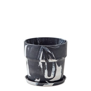 Poth Living Plants Pot Marble Charcoal Milk