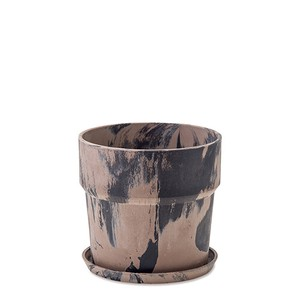 Poth Living Plants Pot Marble Cinnamon Charcoal