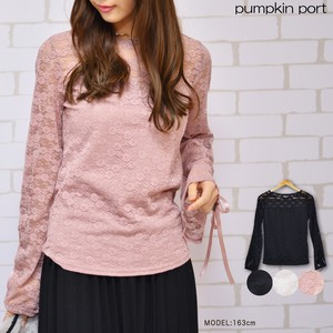 Lace Tape pin Attached Flare Long Sleeve Pullover