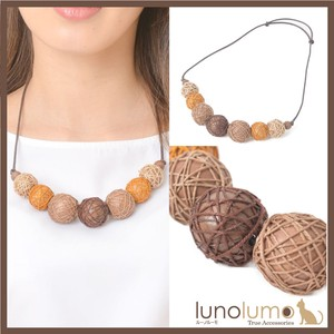Necklace Wood Wood Ball Natural Material Brown Brown Ladies