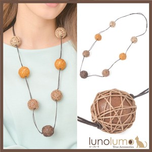 Necklace Necklace Wood Wood Ball Natural Material Brown Brown