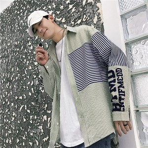 Men's Strap Long Sleeve Shirt Men Outerwear S/S