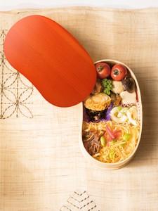 自然でおしゃれな色合い!【おすすめ・2020年新商品】わっぱ弁当箱豆型一段 Natural Orange 紀州塗