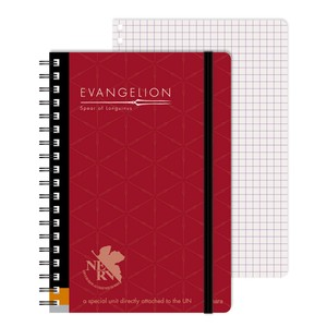 Ring Notebook Evangelion Red Character