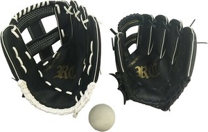 Parent And Child Glove Set Ball Attached Black