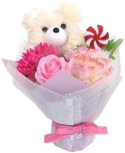 Flower Animal Bouquet bear Ivory
