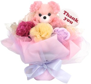 Flower Animal Bouquet bear Pink