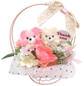 Flower Animal Basket bear Pink