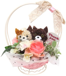 Flower Animal Basket cat Brown
