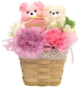 Flower Animal Box bear Pink