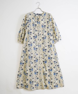 [ 2020NewItem ] Morning Glory Print Embroidery Robe One-piece Dress