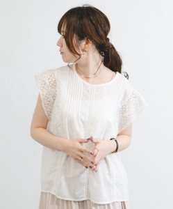 [ 2020NewItem ] pin Tuck Lace Blouse