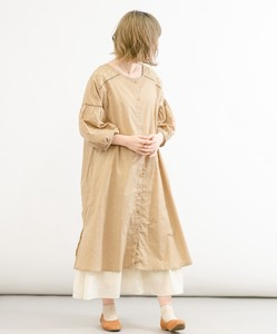 India Dobby Embroidery Switching One-piece Dress