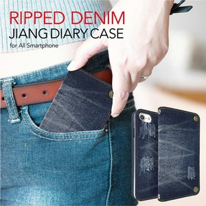 Original Denim Fabric Notebook Type Case iPhone