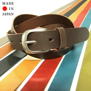 Buffalo Leather Plain Belt Made in Japan