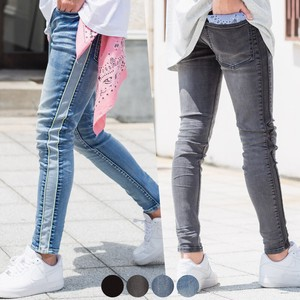 S/S Piping Switch Super Stretch Skinny Denim Pants
