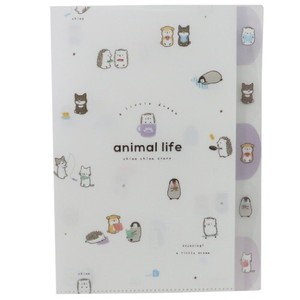 Pocket File ANIMAL Die Cut Index A4 Plastic Folder