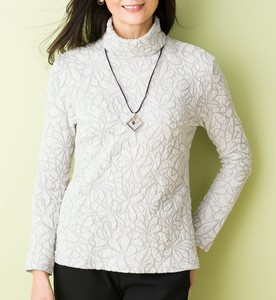 Floral Pattern Card Pullover