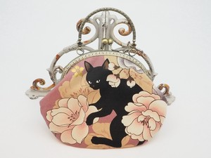 Feeling Coin Purse Bag Base cat Peony Pink