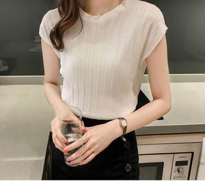 Plain Short Sleeve T-shirt Ladies Sweater