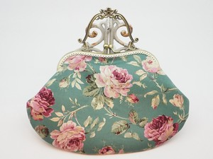 Feeling Coin Purse Bag Base Rose Emerald Green
