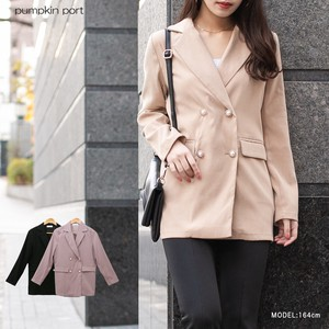 [ 2020NewItem ] Polyester Peach Pearl Button Jacket