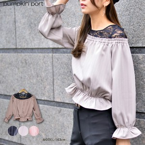 [ 2020NewItem ] Stripe Lace Combi Candy Blouse
