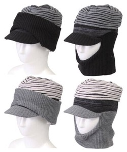 Attached Knitted Hat Knitted Cap Knitted Hat Face Unisex