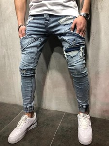 Men's Denim Pants Skinny Damage Vintage