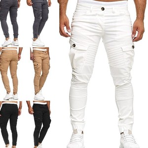Chino Pants Men's Work Pants Outer Bottom Pants Stretch White