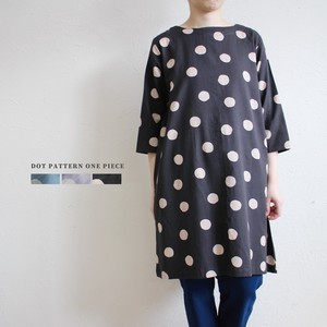 Dot Print 2Way One-piece Dress