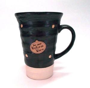 ドット黒ビアカップ