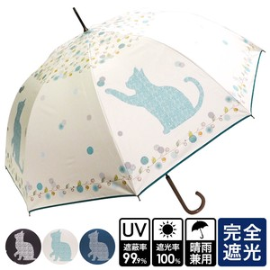 [ 2020NewItem ] S/S All Weather Umbrella Big Cat One push Umbrellas UV Cut cat