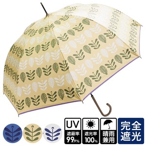 [ 2020NewItem ] S/S All Weather Umbrella Scandinavia Leaf One push Umbrellas UV Cut