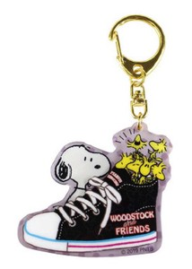 Snoopy Layer Acrylic Key Ring Sneaker Black