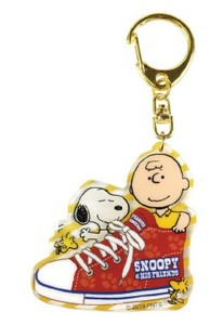 Snoopy Layer Acrylic Key Ring Sneaker Red