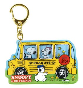Snoopy Layer Acrylic Key Ring Yellow