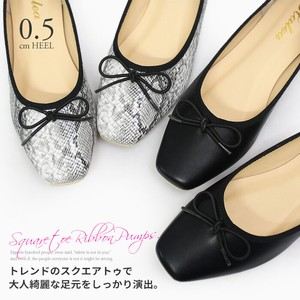 [ 2020NewItem ] Ribbon Design Square Pumps