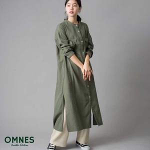 Rayon Long Shirt One-piece Dress