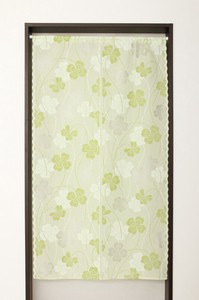 Japanese Noren Curtain Flaming Fire Clover