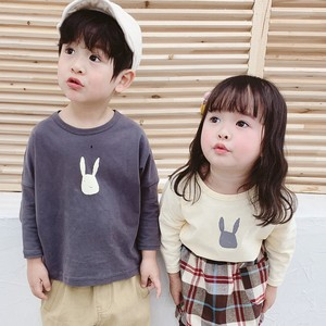 Children's Clothing Top Rabbit Tea Long Shirt Kids Casual Korea