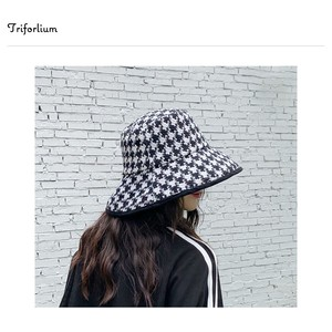 [ 2020NewItem ] 2 Colors Houndstooth Hats & Cap